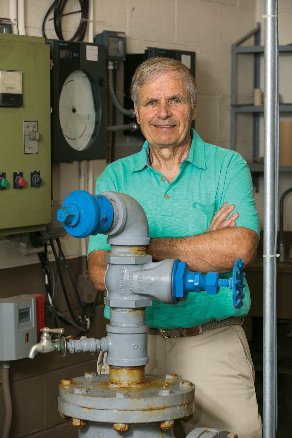 Ray Jarema oversees the operations of the Berlin Water Commission's wastewater collections system.